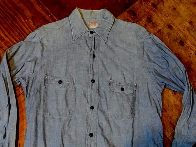 10/29(土)入荷! 40-50\'S ROOMY RICHARD シャンブレーシャツ!_c0144020_1472334.jpg