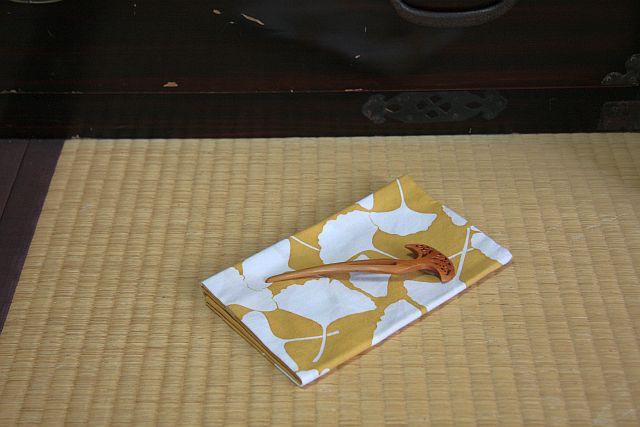 銀杏の手拭_e0220163_1822518.jpg