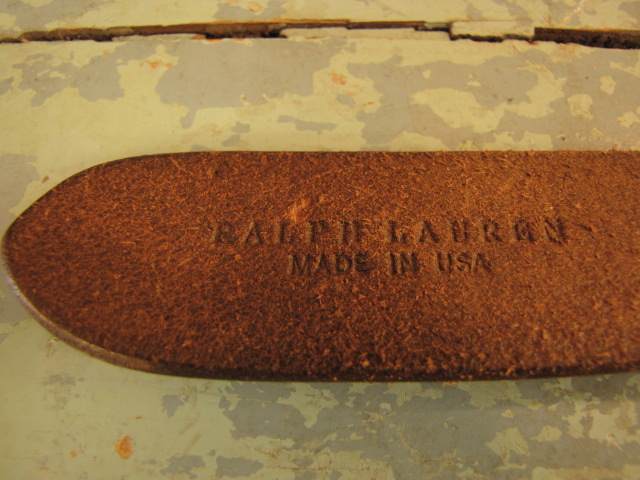 SALE追加商品 -RALPH RAULEN レザースタッズベルト-_f0233425_1719532.jpg