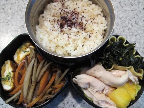 茹で鶏ササミ、お弁当_c0075701_13224566.jpg