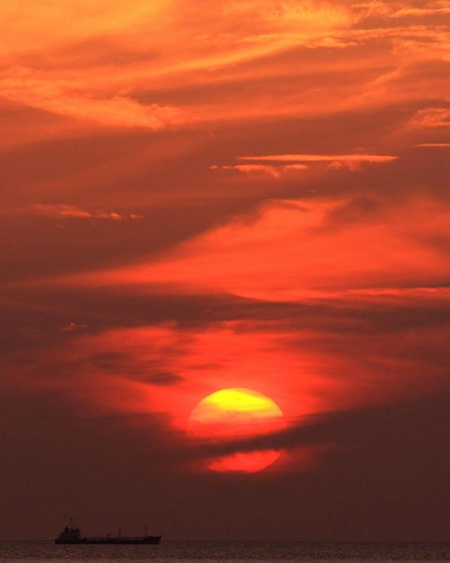夕陽と船_d0074828_21243164.jpg