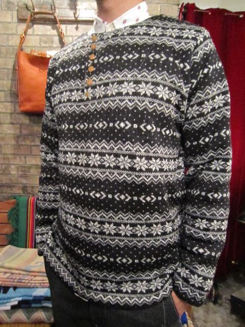 """ANACHRONORM \""""Nordick Tilted Henley Neck L/S T-shirt\"""" ご紹介_f0191324_918580.jpg"""