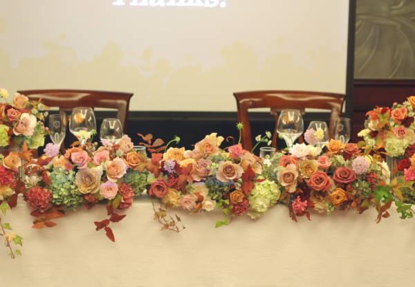深い秋、翠と紅の装花  代官山パッション様へ_a0042928_2253691.jpg