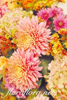 秋色 桜色 和のご披露宴装花1 目黒雅叙園様_a0115684_1382774.jpg