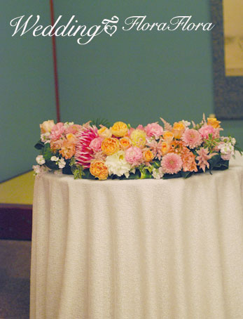 秋色 桜色 和のご披露宴装花1 目黒雅叙園様_a0115684_1502419.jpg