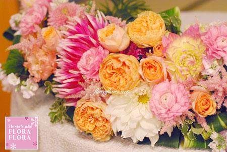秋色 桜色 和のご披露宴装花1 目黒雅叙園様_a0115684_205055.jpg