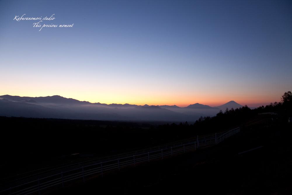 八ケ岳牧場公園からの朝焼け_c0137403_16302736.jpg