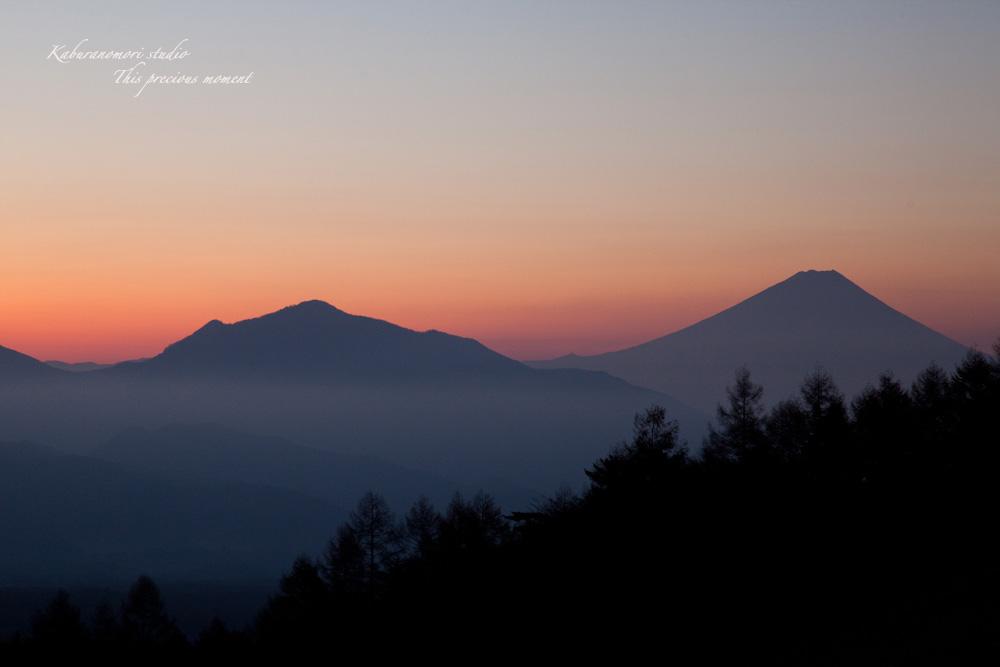 八ケ岳牧場公園からの朝焼け_c0137403_16374681.jpg