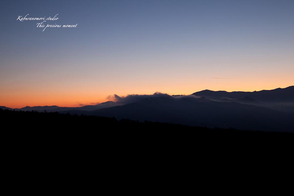 八ケ岳牧場公園からの朝焼け_c0137403_16431739.jpg