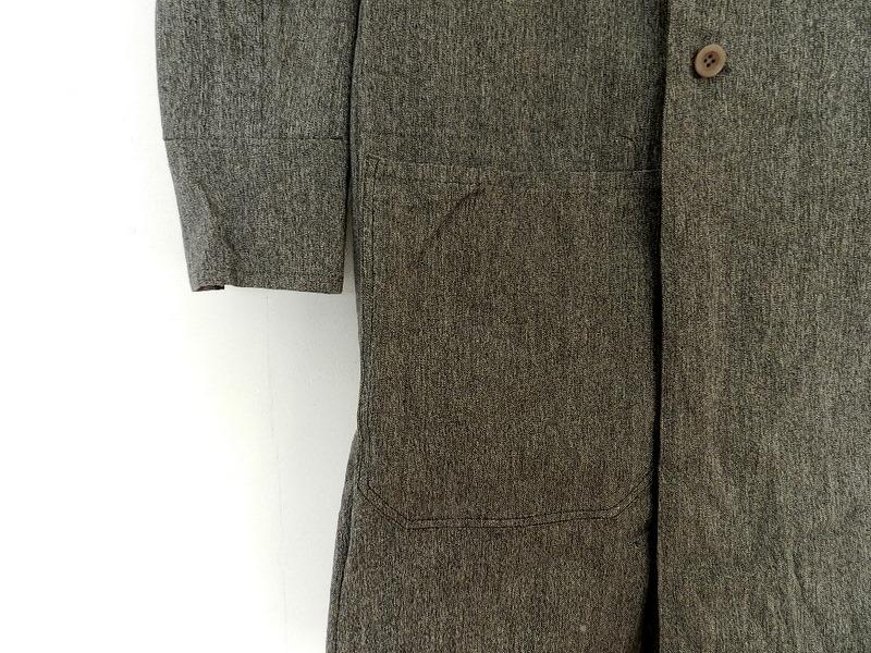 Italian salt & pepper work coat squat version_f0226051_22443026.jpg