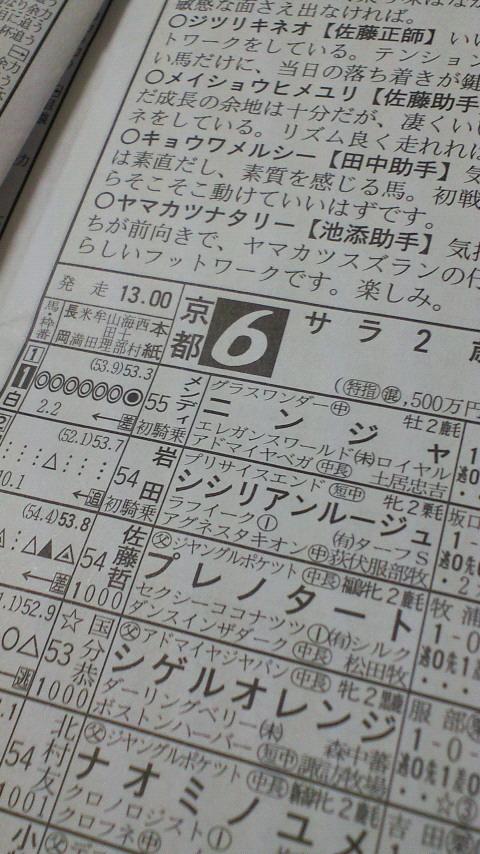 今日の京都6レース_c0001670_11492992.jpg