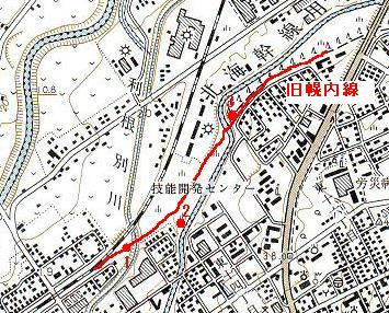 旧幌内鉄道線路跡と北海幹線用水路_f0078286_1064754.jpg