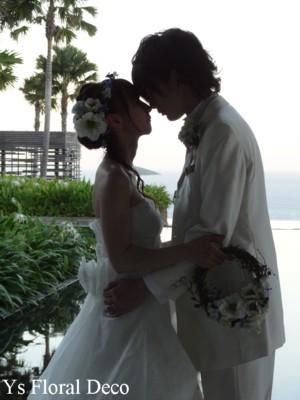 リースブーケと花冠 バリ島のおふたりに_b0113510_13351228.jpg