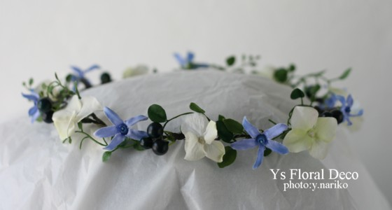 リースブーケと花冠 バリ島のおふたりに_b0113510_13354347.jpg