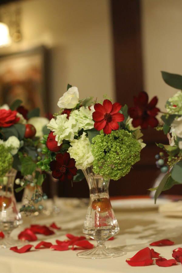 シェ松尾青山サロン様の装花 紅葉と、赤でかわいく_a0042928_18572881.jpg