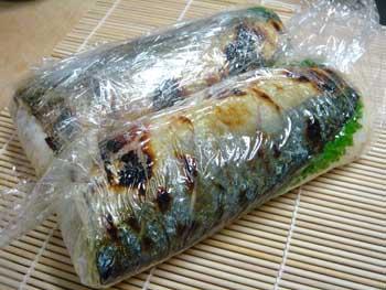 焼き鯖のお寿司_d0035752_21492184.jpg