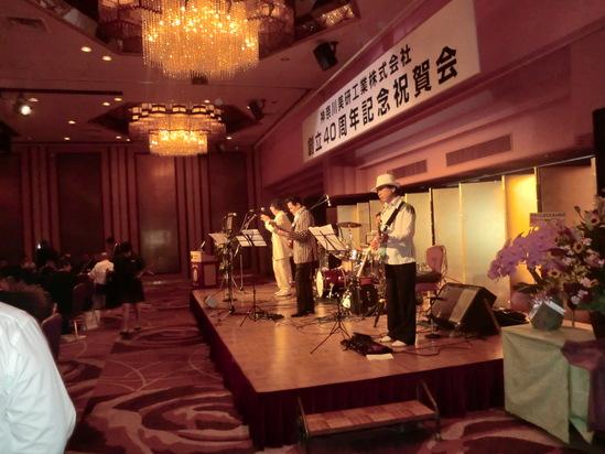 横浜ローズホテルでパーティーライブ_e0119092_1228268.jpg