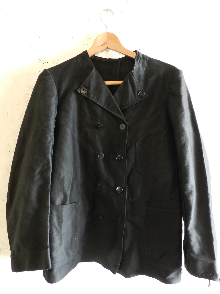 French mole skin double button jacket _f0226051_21293113.jpg
