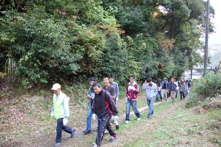 岬高校第1学年植樹サポート in 孝子の森_c0108460_18112999.jpg