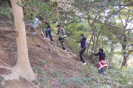 岬高校第1学年植樹サポート in 孝子の森_c0108460_1837977.jpg