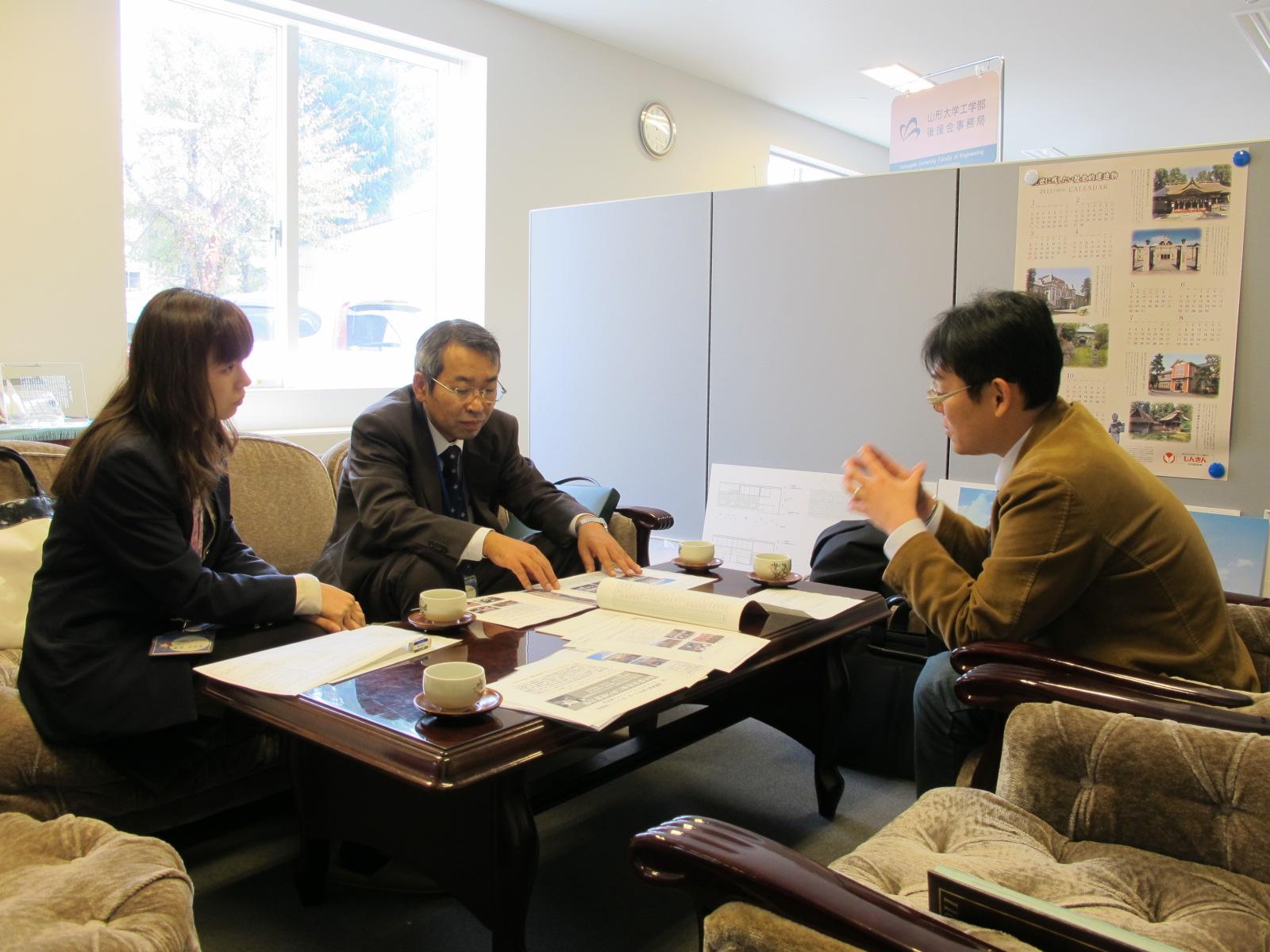 米沢工業会国際交流事業補助金交付についての打ち合わせを行う_c0075701_1165069.jpg