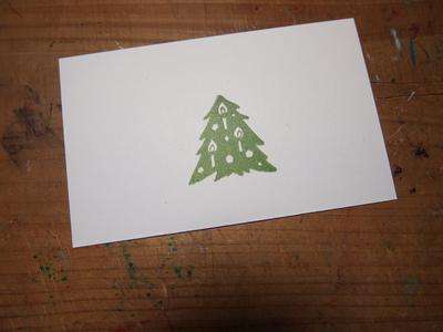 クリスマスツリーのはんこ_c0154210_21574769.jpg