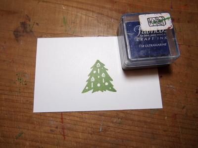 クリスマスツリーのはんこ_c0154210_2158202.jpg