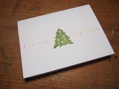 クリスマスツリーのはんこ_c0154210_21585918.jpg