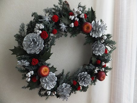 クリスマスリースだよ~_b0238118_20453253.jpg