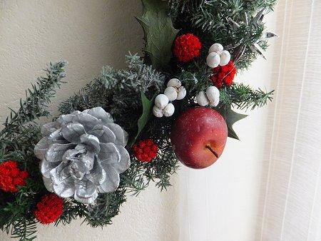 クリスマスリースだよ~_b0238118_20505958.jpg