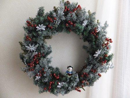 クリスマスリースだよ~_b0238118_20524747.jpg