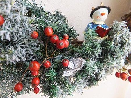クリスマスリースだよ~_b0238118_20551174.jpg