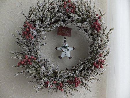 クリスマスリースだよ~_b0238118_2123992.jpg