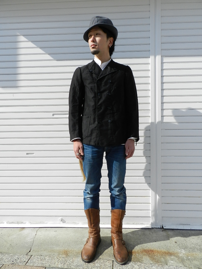 French mole skin double button jacket snap_f0226051_1571450.jpg