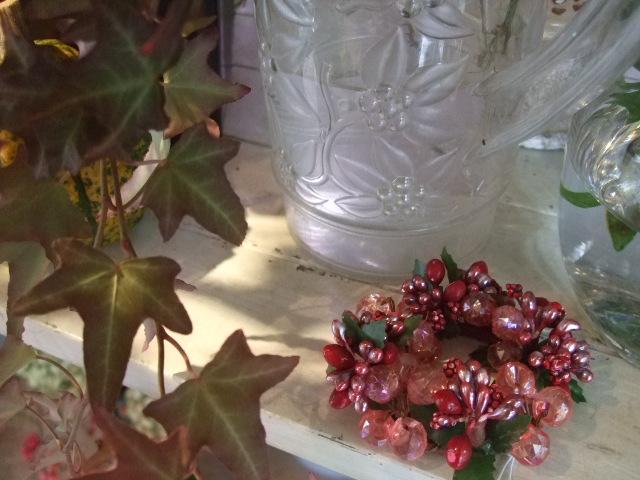 オークリーフ(クリスマスのビーズアクセサリー)_f0049672_11394278.jpg