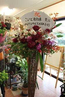 開店祝いのスタンド花_d0227610_22274198.jpg
