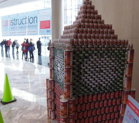 今年も缶詰アートのカンストラクション開催中 Canstruction_b0007805_12305951.jpg