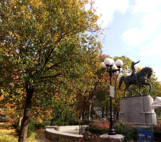 紅葉のニューヨーク、野生のリスくんたちは大忙し_b0007805_9203945.jpg