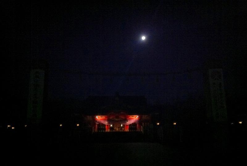 月明かりの中 樽前神社に願掛けに 早朝5時前 _a0160581_6503549.jpg