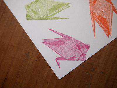 新作・折り鶴のはんこ。_c0154210_22555494.jpg