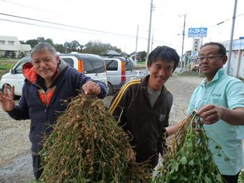 園芸日誌「落花生収穫!」_c0214657_1423914.jpg