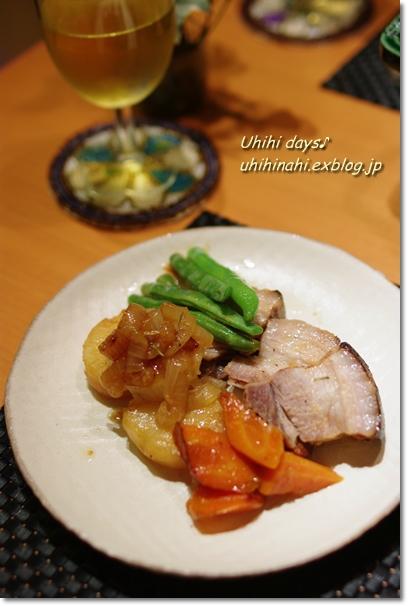 豚バラと野菜のガーリック白ダシ蒸し_f0179404_21531070.jpg