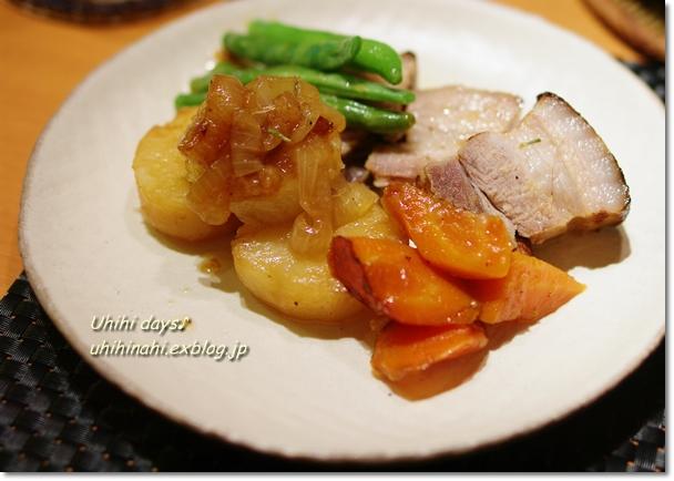 豚バラと野菜のガーリック白ダシ蒸し_f0179404_21541980.jpg