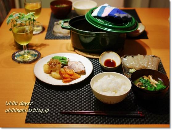 豚バラと野菜のガーリック白ダシ蒸し_f0179404_21544011.jpg