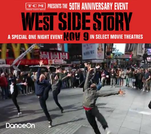 タイムズ・スクエアの中心で、突然、50名のダンサーがウェストサイドストーリーを再現!!!_b0007805_340859.jpg