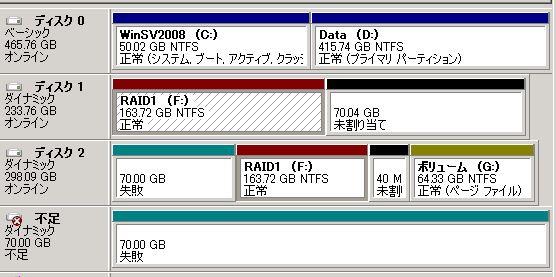 WindowsServerソフトRAIDのミラーボリューム修復_e0091163_0452323.jpg