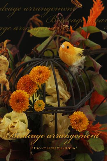 秋の鳥かごアレンジ。_d0124248_2113235.jpg