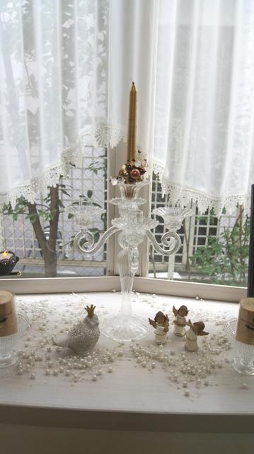 出窓をクリスマスイメージに~♪_f0029571_2334777.jpg