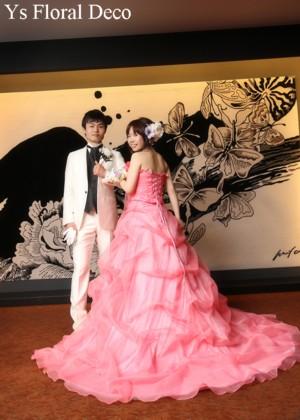 お色直しのドレスに合わせるヘッドドレス&ボリュームたっぷりのリストレット_b0113510_23515698.jpg