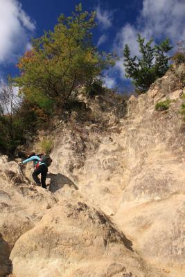 六甲山ロックガーデン・東おたふく山から黒岩西尾根を登る_d0055236_2143351.jpg